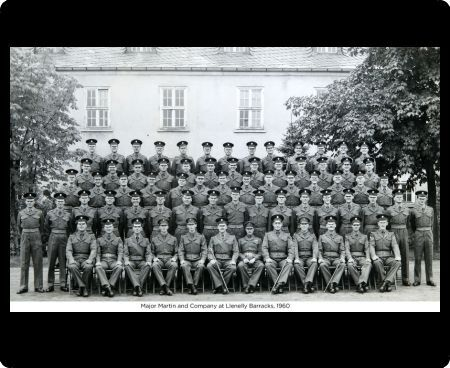 major martin and company at llenelly barracks, 1960, Album 131, Grenadiers3354
