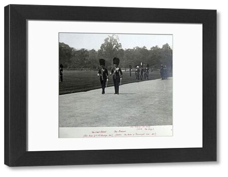 1910, buckingham palace, hm the king, hrh duke of connaught, lt col hon j staubyn, royal review, Album 30, Grenadiers1181