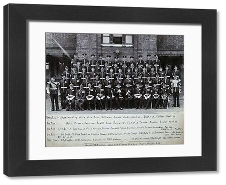 chelsea barracks, 1928, woodley, wells, vine, bond, gillman, smale, woods, wombwell, beckham, collier, hesling, carver, harrison, scutt, sach, farnworth, clements, edwards, douglas, bowler, newman, barber, higgins, watts, hancock, stubbs, mansell