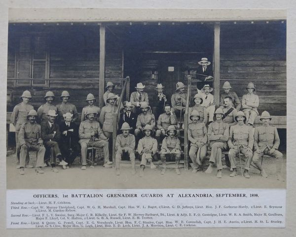 1 Bn officers Alexandria 1898