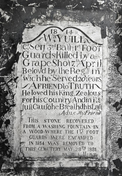 1814, tombstone, william yuill, Album 29, Grenadiers1171