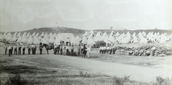 1892, ash camp manoeuvres, Album 13, Grenadiers0710