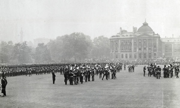 1902, giving south africa medals, horse guards parade, Album 26, Grenadiers1057