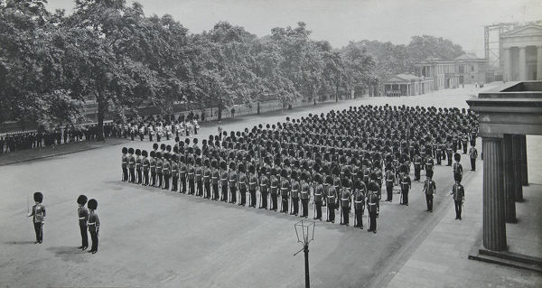 1910, wellington barracks, Album 36, Grenadiers1672