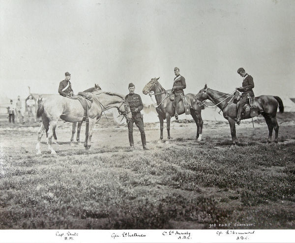capt l drummond, capt shute, col lord annaly, gen lord methuen, manoeuvres 1894, Album 11, Grenadiers0662