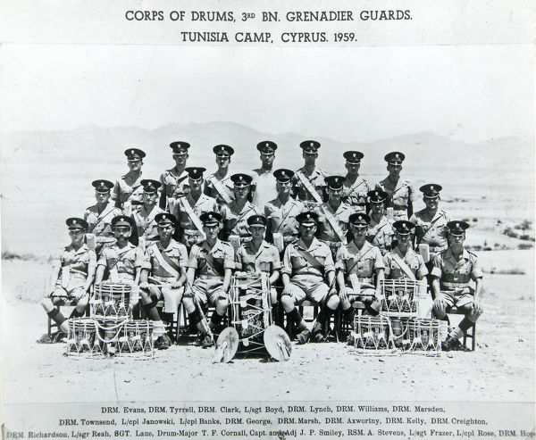 corps of drums 3rd battalion tunisia camp cyprus