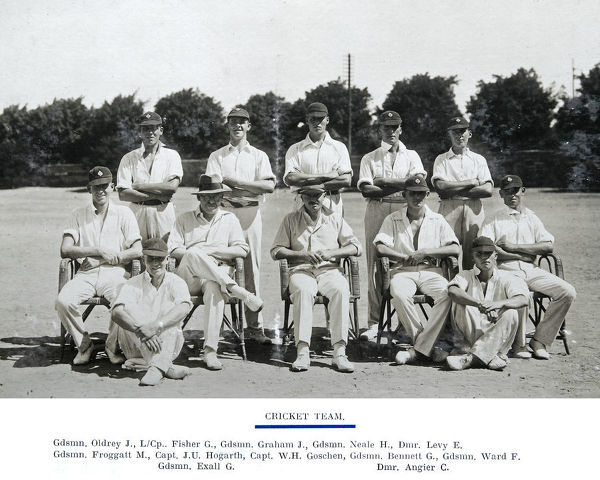 cricket team fisher graham neale levy oldrey