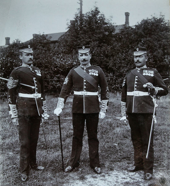 d/sgt f atkins, sgt maj a thomas, h a lewis dcm for omdurman, Album 32, Grenadiers1375