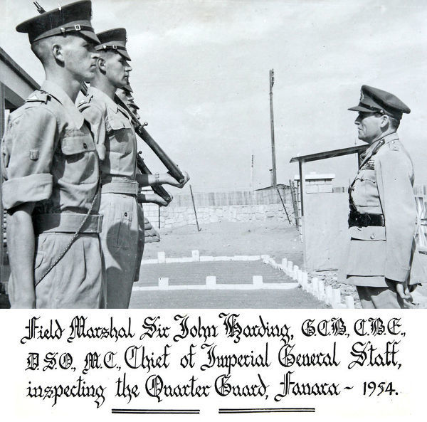 field marshall sir john harding, inspection, quarter guard, fanara, 1954, Album 104, Grenadiers3155