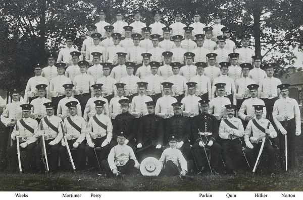 grenadiers 1910, hillier, mortimer, norton, parkin, perry, quin, weeks, Album 36, Grenadiers1653-2
