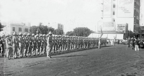 guard of honour on the high commissioner, sir miles wedderburn lampson, departing for uk on leave, 14 august, 1936, Album 149, Grenadiers3413