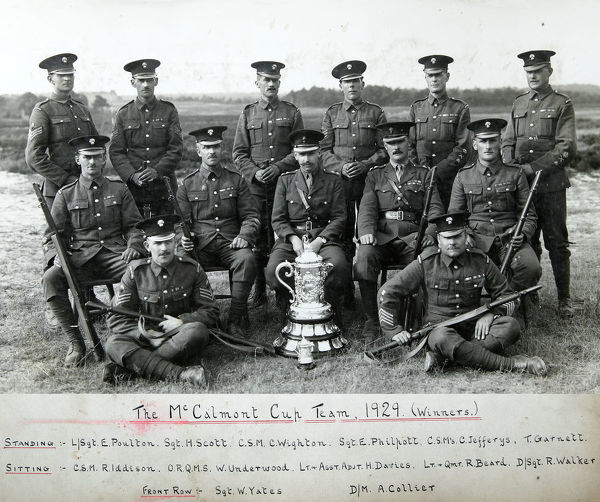 mccalmont cup team, 1929, winners, poulton, scott, wighton, philpott, jefferys, garnett, iddison, underwood, davies, beard, walker, yates, collier, Album 34, Grenadiers1587