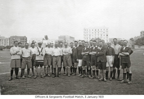 officers & sergeants football match, 3 january 1931, Album 40, Grenadiers2088