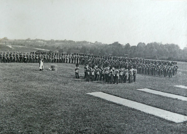 open air service, pirbright, 1912, Album 33, Grenadiers1523