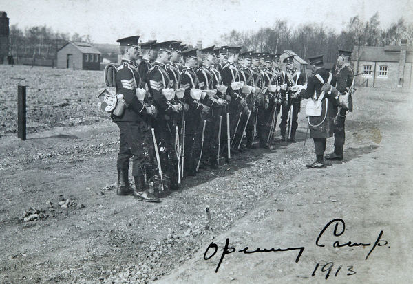 opening camp 1913. opening camp, 1913, Album 122, Grenadiers3189