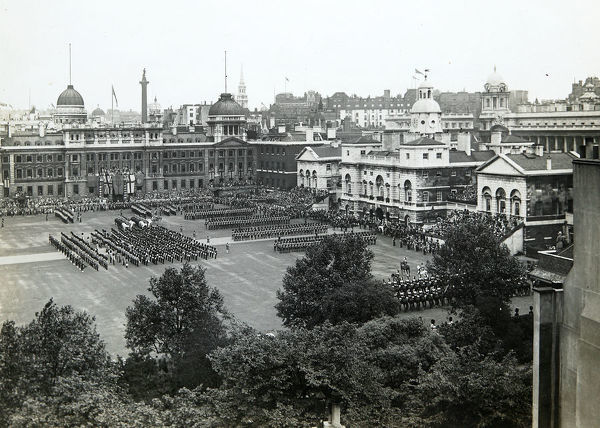 trooping the colour, horse guards parade, year unknown, Album 153, Grenadiers3435
