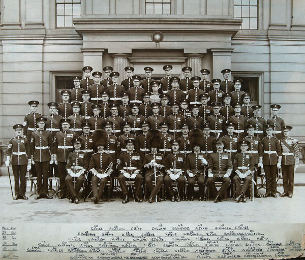 wellington barracks, 15 july 1930, jones, oldknow, bird, williams, whitehead, shaw, gillman, palmer, blackband, pratt, hale, higgins, stone, satchwell, king, nightingale, wombwell, hills, anderson, wells, hallam, poulton, farnworth, smale, smith