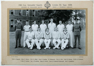 14th coy cricket xi 1948 td.s. claypole gdsn. c. dennis