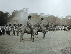 1897 2nd btn mounted officers sussex manoeuvres