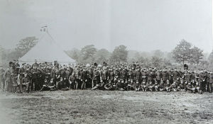 1897 officers at aldershot review