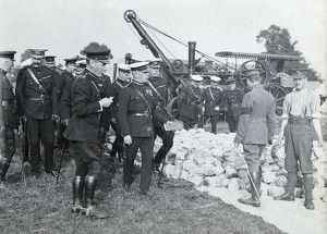 1910 bisley gen sir j french inspecting supply camp