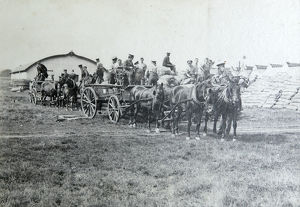 1910 bisley loading wagons supply camp