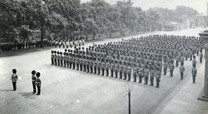1st battalion inspection by king george v wellington barracks