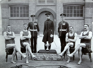1st battalion winners water tug of war 1911