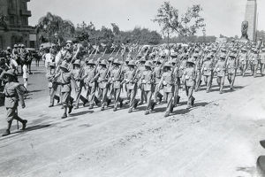 3rd battalion no.4 guard returning to barracks