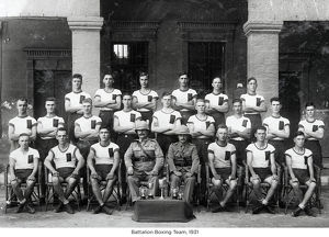 battalion boxing team 1931