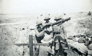 battalion hq aa gun suez road 1931