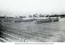 battalion marching on the polo ground alexandria sporting club