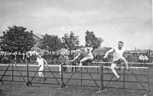 battalion sports hurdle race july 1909