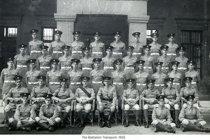 the battalion transport 1932