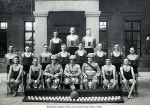battalion water polo and swimming team 1932
