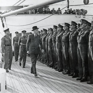 colonel inspects no.1 company