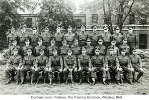 demonstration platoon the training battalion