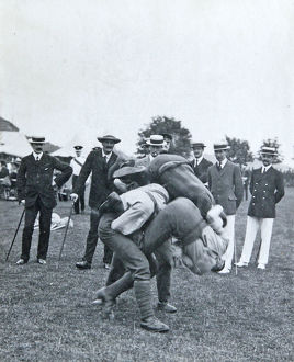 a fall battalion sports july 1909