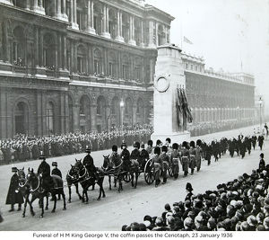 funeral of h m king george v the coffin passes the cenotaph