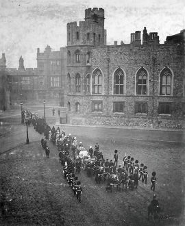 funeral of hm queen victoria proceeding to the mausoleum