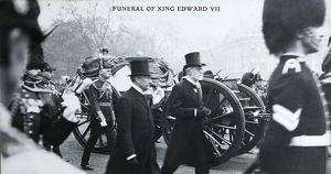 funeral king edward vii gun carriage in mall