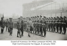guard of hjonour sir miles lampson kcmg cb high commissioner for egypt