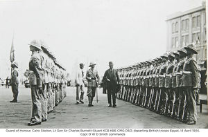 guard of honour cairo station lt gen sir charles burnett-stuart kcb kbe cmg dso
