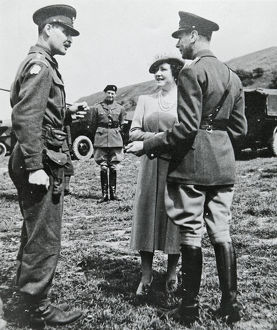 hm king george vi hm queen elizabeth