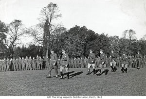 hm the king inspects 3rd battalion perth 1942