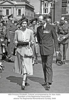 hrh princess elizabeth colonel accompanied by sir alan adair