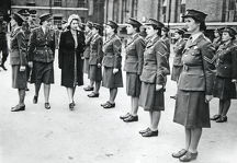 hrh princess elizabeth colonel inspecting attached ats personnel