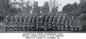 infantry ncos school stainborough castle officers