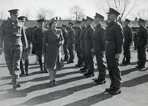 inspection hrh princess elizabeth 1945