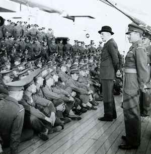 lord jeffreys addresses the battalion